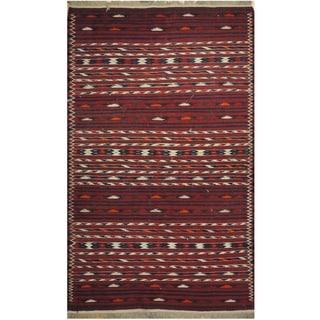 Handmade Wool Kilim (Afghanistan) - 3'9 x 6'2