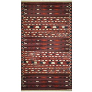 Handmade One-of-a-Kind Wool Kilim (Afghanistan) - 3'6 x 6'4