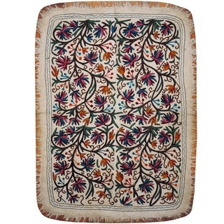Handmade Suzani Namad Wool Kilim (Afghanistan) - 4' x 5'7