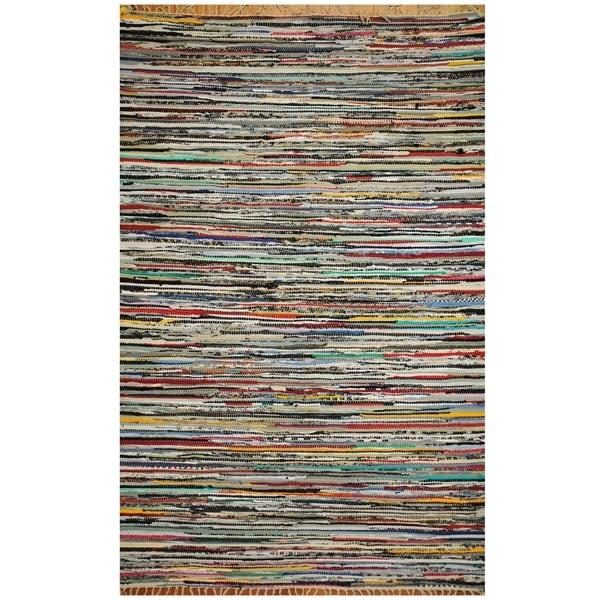 Handmade One-of-a-Kind Wool Kilim (India) - 4'4 x 6'6