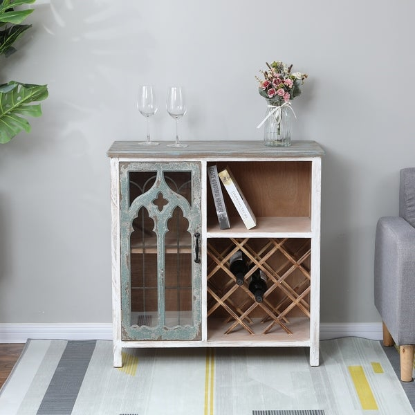 Shabby-Chic Distressed Storage and Wine Cabinet. Opens flyout.