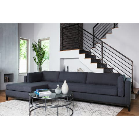 """Avenue Sectional Sofa in Navy Blue 129"""""""