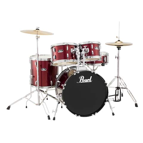 Pearl Roadshow Complete Set w/Cymbals 20/10/12/14F/14X5 - Red Wine