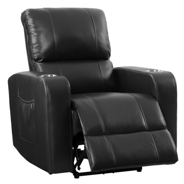 Shop CorLiving Leather Gel Home Theatre Power Recliner with