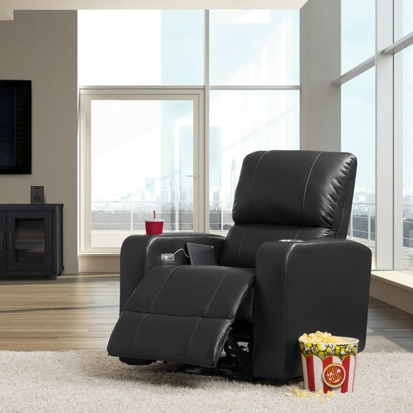 CorLiving Leather Gel Home Theatre Power Recliner with USB Port