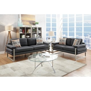 Silver Orchid Boland 2-piece Sofa and Love Seat Living Room Set