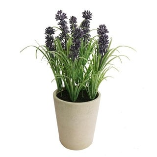 """10"""" Faux Lavender Tabletop Plant Arrangement in Pot - Red"""
