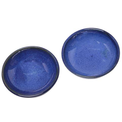 Handmade Bright Sky Ceramic condiment dishes (Indonesia)