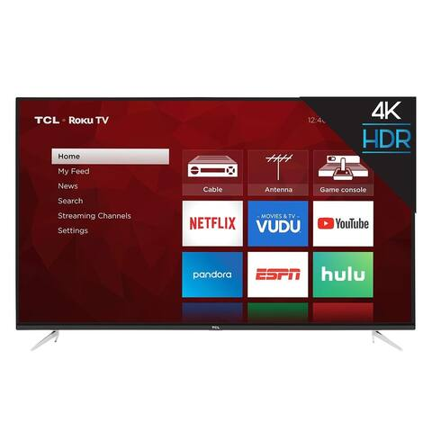"Refurbished TCL 55"" Class 4K Ultra HD (2160p) HDR Roku Smart LED TV (55S423)"