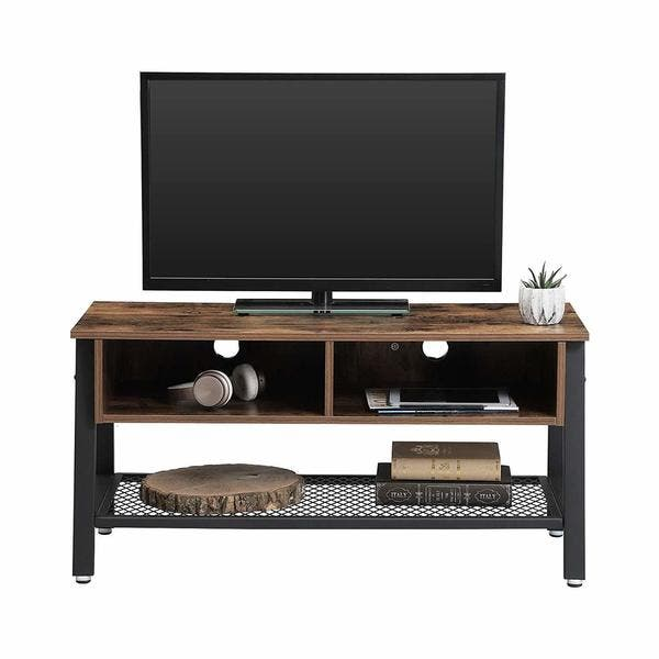 Wooden Tv Stand With Two Open