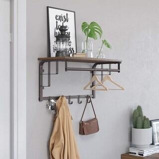 Link to Carbon Loft Morwenna Metal Framed Wall Mounted Coat Rack Similar Items in Storage & Organization