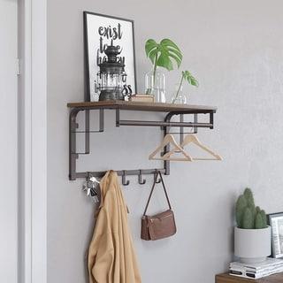 Carbon Loft Morwenna Metal Framed Wall Mounted Coat Rack