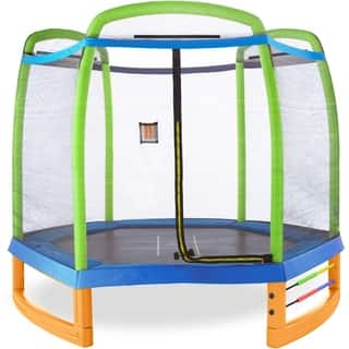 Pure Fun Jump and Play 7-Foot Outdoor/Indoor Trampoline Set