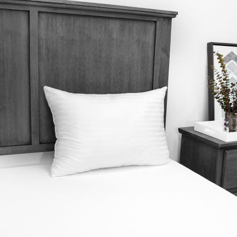EcoPEDIC Down Alternative Bed Pillow with 300 Thread Count Cover