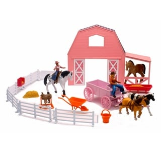 Link to Valley Ranch Pink Barn Horse Set Similar Items in Toy Vehicles