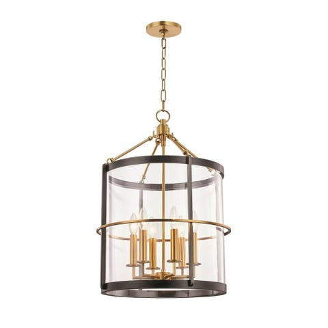 Ren by Becki Owens for Hudson Valley Lighting 6-light Aged Brass Pendant