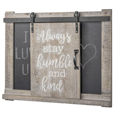 The Gray Barn 'Always Stay Humble and Kind' Chalkboard Message Board