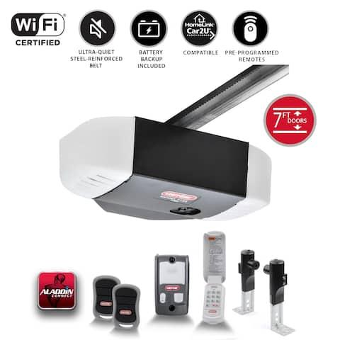 Genie StealthDrive Connect 7155-TKV - 1 1/4 HP Belt Drive Smart Garage Door Opener w/Battery Back-Up, Works w/ Alexa & Google