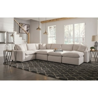 Savesto 4-Piece Modern Sectional - Ivory