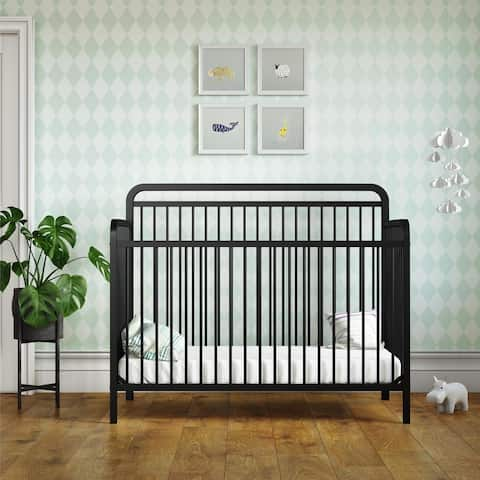 Taylor & Olive Clarkia Metal 4-in-1 Convertible Crib