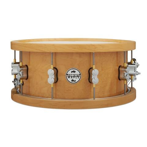 "Pacific Concert Series Wood Hoop Maple Snare w/ 20-Ply Maple Shell - 6.5"" x 14"""