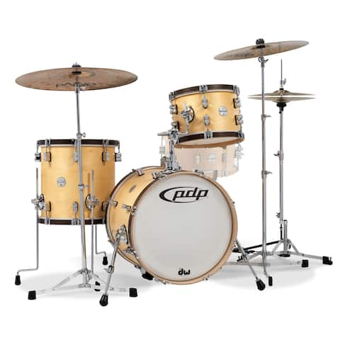 Pacific Classic Wood Hoop 3-Piece Shell Pack Bop Kit - Natural Finish