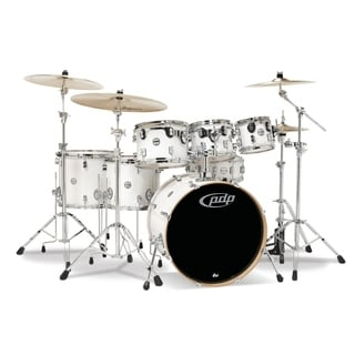 Pacific Drums CM7 Concept Maple Drum 7-Piece Shell Pack - Pearlescent White
