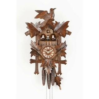 Sternreiter Bird and Leaf Walnut-finished Linden Wood Cuckoo Clock