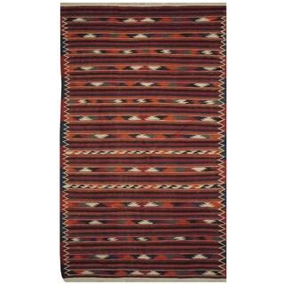 Handmade One-of-a-Kind Wool Kilim (Afghanistan) - 3'10 x 6'5