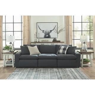 Savesto 3-Piece Modular Cloud Sofa- Charcoal