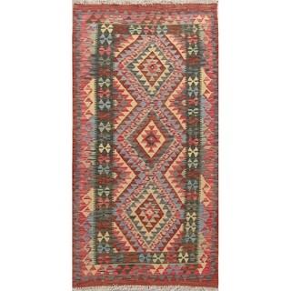 "Southwestern Oriental Kilim Wool Hand Woven Persian Runner Rug - 6'4"" x 3'3"" Runner"