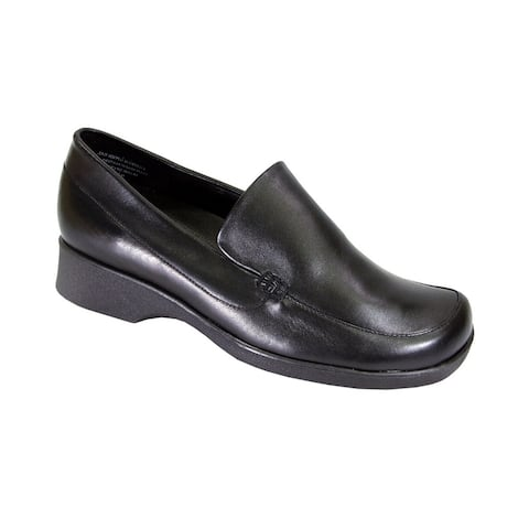 24 HOUR COMFORT Thelma Women Extra Wide Width Leather Slip-On Shoes