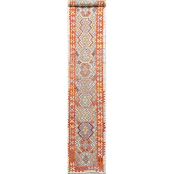 "Kilim Oriental Hand Woven Traditional Wool Persian Runner Rug - 15'7"" x 2'8"" Runner"