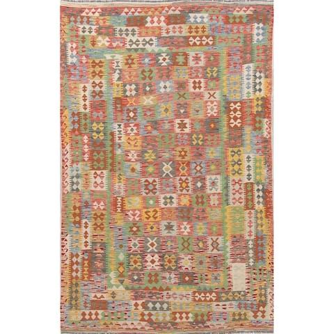 "Southwestern Kilim Persian Wool Hand Woven Oriental Area Rug - 9'10"" x 6'3"""