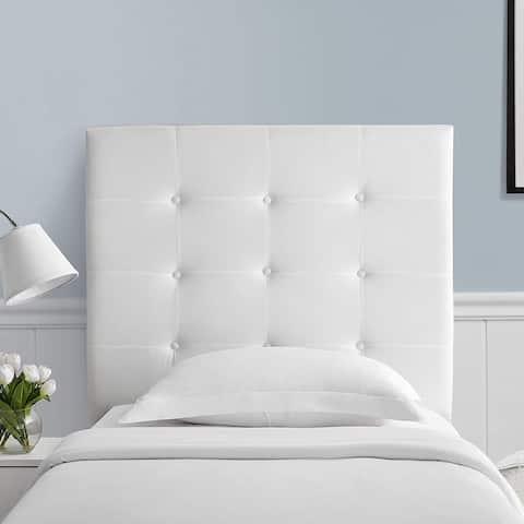 Villa Classic - Tufted - Plush College Dorm Headboard - White