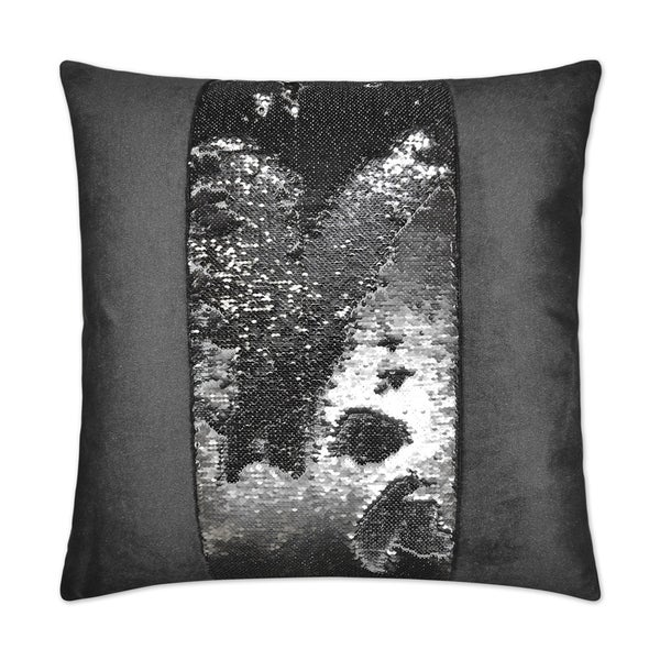 Hylee II Pewter Feather Down 24-inch Decorative Throw Pillow