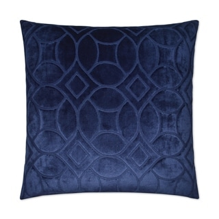 Reidshire Blue Feather Down 24-inch Decorative Throw Pillow