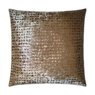 Stealth Bronze Feather Down Hidden Zipper 24-inch Decorative Throw Pillow