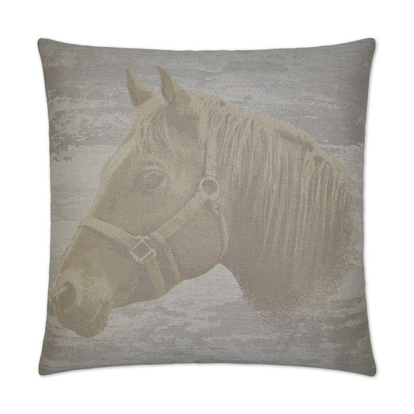 Mister Ed Ivory Feather Down 24-inch Decorative Throw Pillow