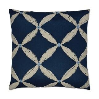 Windward Blue/Ivory Feather Down Hidden Zipper 14 x 24-inch Decorative Throw Pillow