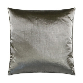 Metaux-Pewter Feather Down Hidden Zipper Decorative Throw Pillow