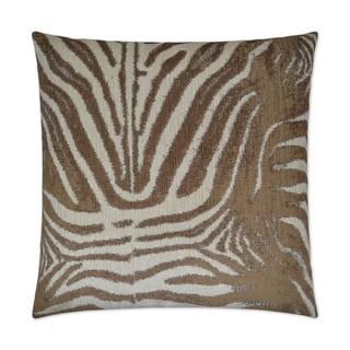 Zebrana Tan Feather Down 24-inch Decorative Throw Pillow with Hidden Zipper