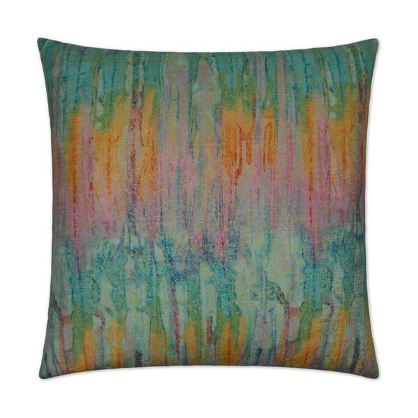 Igneous-Tourmaline Feather Down Hidden Zipper 24 x 24 in Decorative Throw Pillow