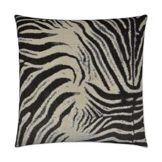 Zebrana Charcoal Feather Down Hidden Zipper 24-inch Decorative Throw Pillow
