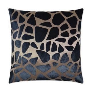 Pebbles Navy Feather Down Hidden Zipper 14-inch x 24-inch Decorative Throw Pillow