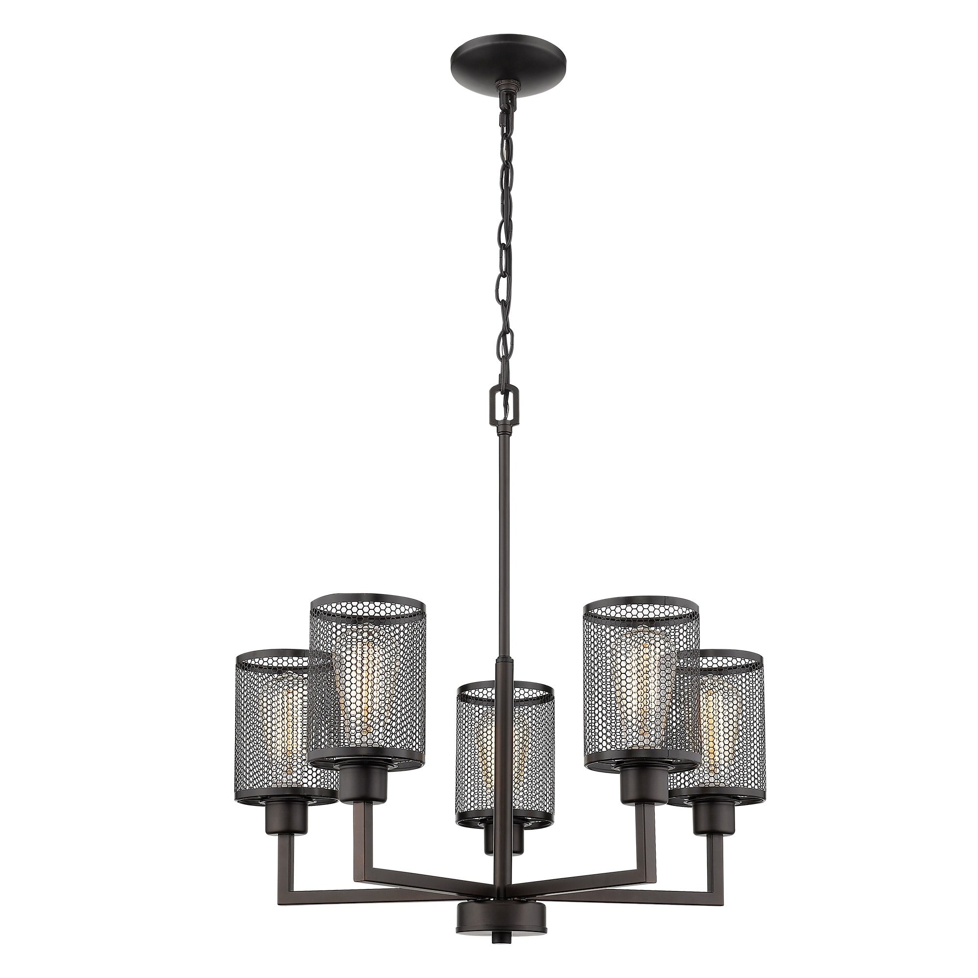 Eglo Verona 5-Light Chandelier with Oil-Rubbed Bronze Finish