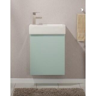 """Breeze 20"""" Single Sink Vanity In Mint Green"""
