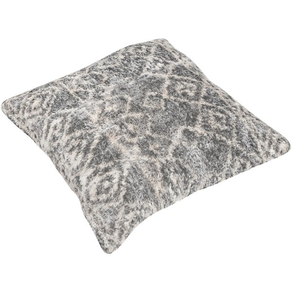 Soterios Moroccan Poly or Feather Down Filled 21-inch Throw Pillow