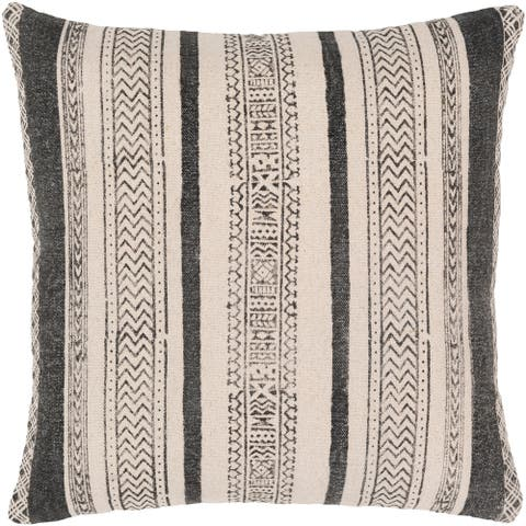 Shakti Bohemian 20-inch Poly or Feather Down Filled Throw Pillow