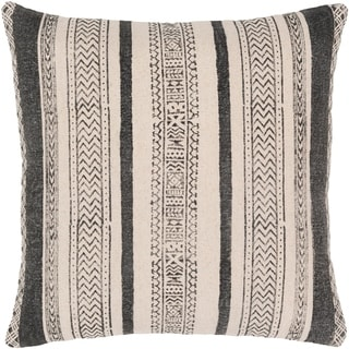 Shakti Bohemian Black/Cream Poly or Feather Down Filled 20-inch Throw Pillow
